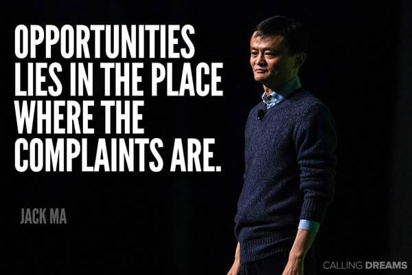Jack Ma's quote about business