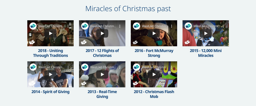 Christmas Miracle Campaign  Video for the last 6 years. From 2013 - 2019 video.